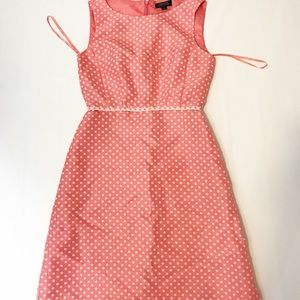 tahari arthur levine polka dot sheeth dress size 2